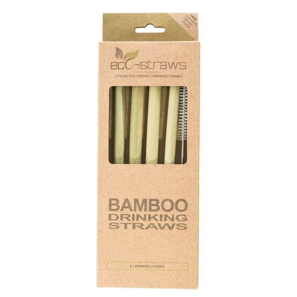 Natural Bamboo Drinking Straws (215mm)